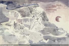 Paul Nash water colour titled Ghost in the shale