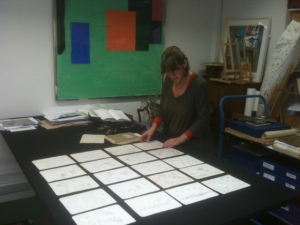 Me at The Young Gallery choosing from the Robin Tanner Collection