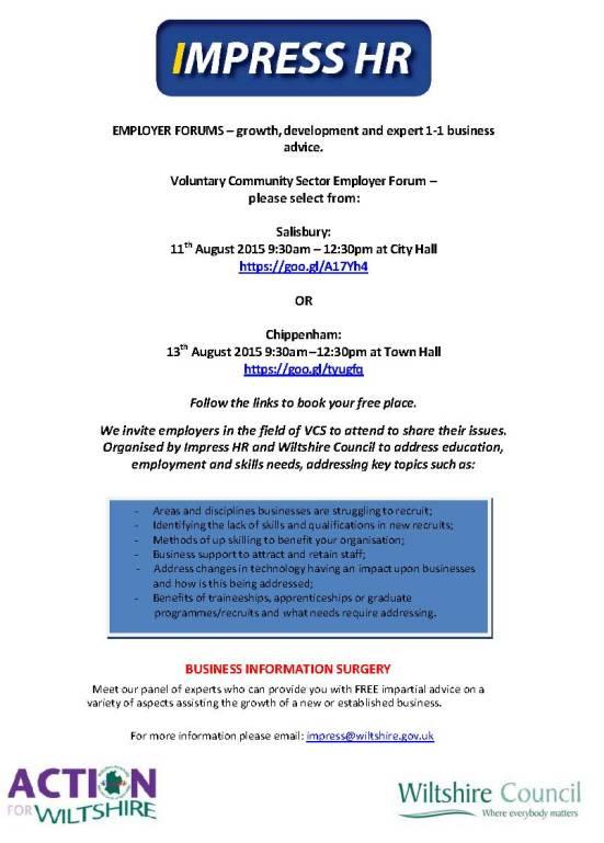 VCS Employer Forum Flyer