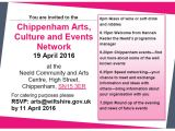 Networking: Chippenham Arts, Culture and EventsNetwork