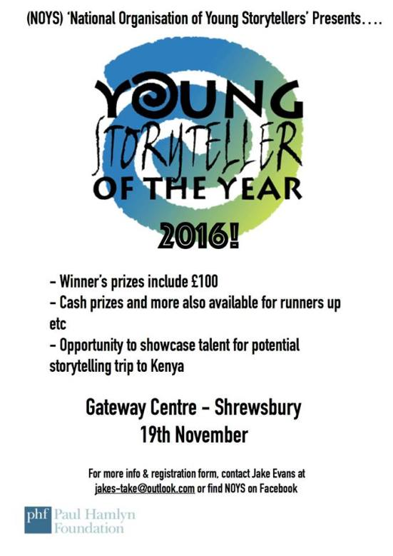 National Young Storyteller of the Year 2016