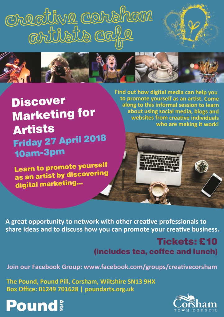 Training discover marketing for artists at pound arts corsham advertisements solutioingenieria Images