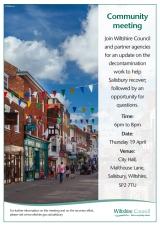 Salisbury Recovery Plan – public updatemeeting